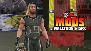 WWE 2K15 PC Mods - Seth Rollins Updated GFX & Walltron Entrance ( PC )