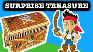 "Jake And The Never Land Pirates ""surprise Toys"" In A Surprise Treasure Chest By Epictoychannel"