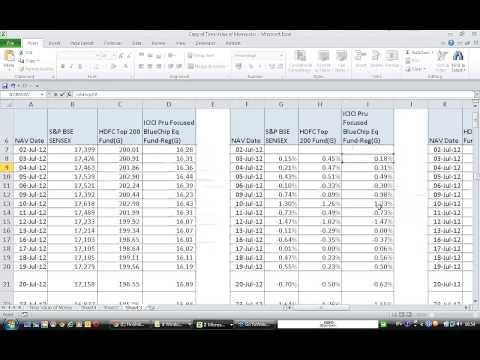 Calculating Sharpe Ratio