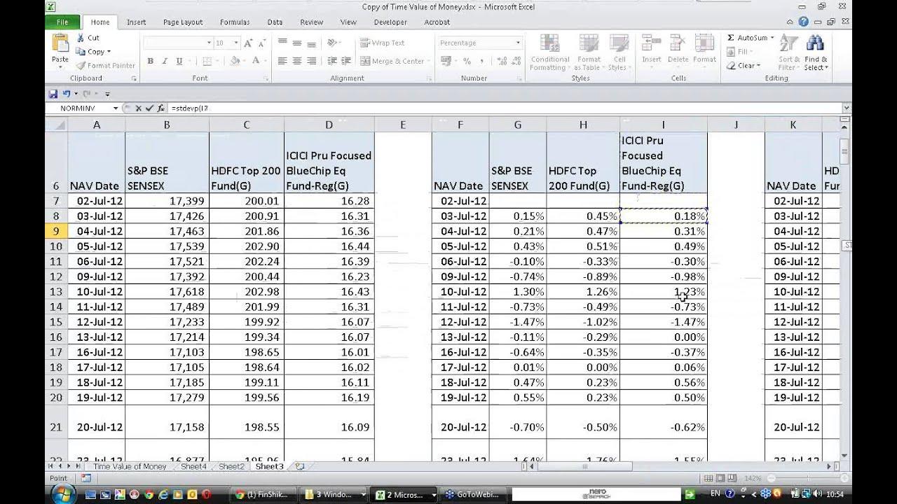 Calculating Sharpe Ratio Youtube