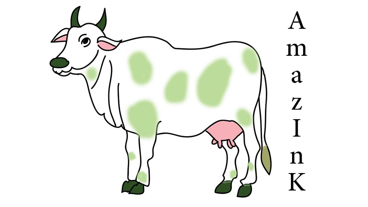 Uncategorized How To Draw Cow learn how to draw cow youtube