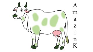 Learn How To Draw Cow