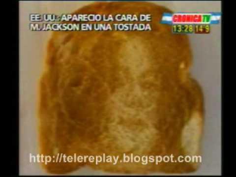Apareció la cara de Michael Jackson en una tostada