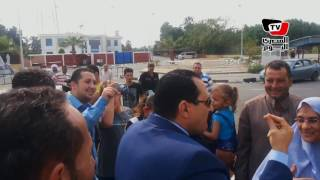 مدير أمن الإسماعيلية في زيارة على نقاط تفتيش معديات قناة السويس