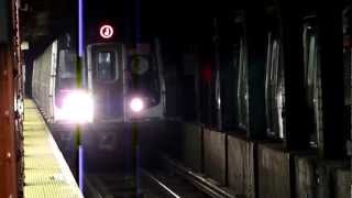 R160A J and M trains at Essex Street - Delancey