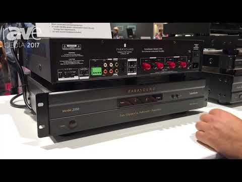 CEDIA 2017: Parasound Features Its ZoneMaster Model 2350 Two Channel and Sub Amplifier