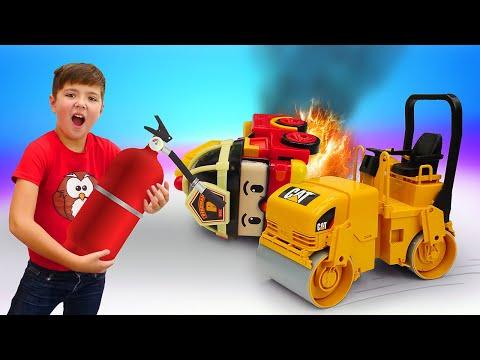 Классные игры для мальчиков. Машины помощники выручают робокары! Новое видео мальчикам.