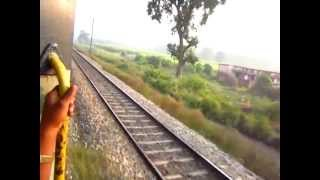 Indian trains crossing 220kmph (garib nawaj exp versus Unknown express)