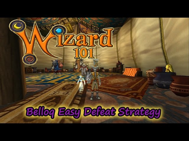 Wizard101 The Strategy.  How to Beat Belloq Easily in Zafaria
