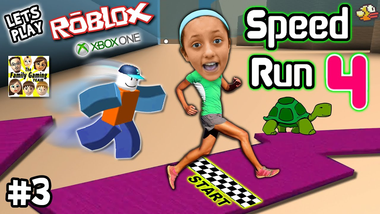 Lets Play ROBLOX #3:  SPEED RUN 4 REQUEST w Lexi! (FGTEEV Xbox One Gameplay  Slow Turtle Skit)
