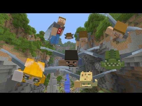 Minecraft 4v4J GLIDE! w/Stampy, Toycat, Ecko VS. 4JStudios