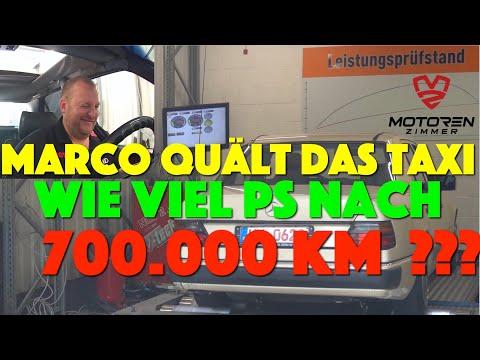 Taxi Leistungsmessung nach 700.000KM ! Prüfstandslauf mit Marco Degenhardt
