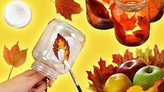 Готовь Клей К Осени: Потрясающие Поделки Из Опавших Листьев