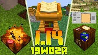Minecraft 1.14: [Snapshot 19w02a] Co Nowego? Ogniska! Funkcje Stołu Kartografa i Pulpitu!