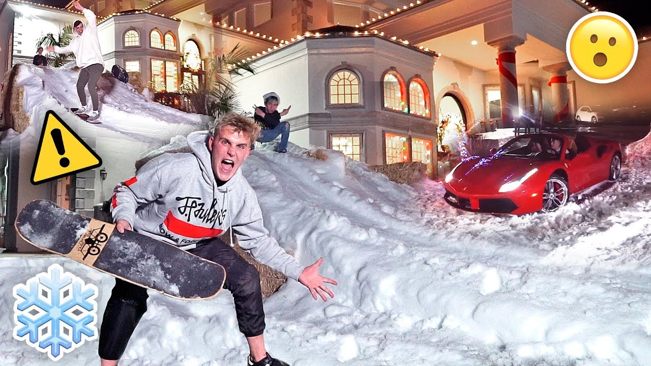 Homemade Giant Snow Slide At Team  Mph