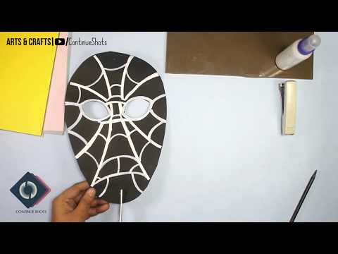 Black Spiderman Mask | DIY