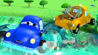 Xe tải kéo Tom -  Cá lớn - Thành phố xe 🚗 những bộ phim hoạt hình về xe tải l Vietnamese Cartoons