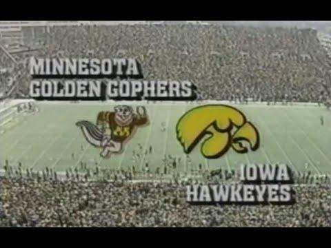 #4 Iowa Hawkeyes Vs Minnesota Gophers Football 1985