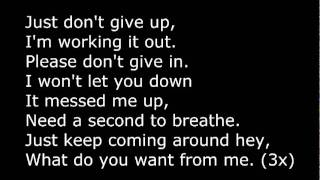 Repeat youtube video Adam lambert - What Do You Want From Me (+Lyrics)