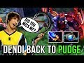 Dendi Back to Pudge Again! Aghanim's Scepter + Aether Lens = IMBA COMBO - Best Pudge Dendi - Dota 2