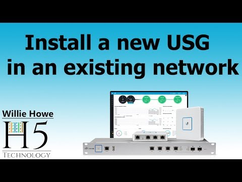 Replace or upgrade USG (UniFi Security Gateway) in an existing site!
