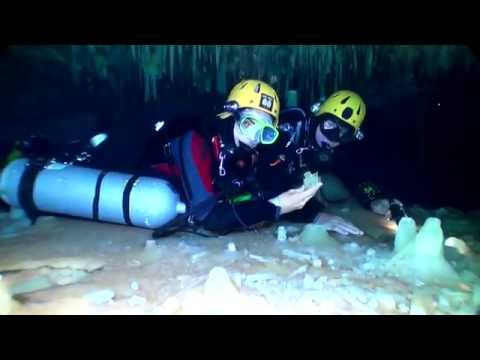 Underwater cave exploration the crystal caves of Bahamas