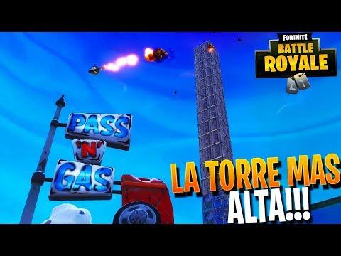 LA TORRE MAS ALTA QUE HE HECHO NUNCA!!   FORTNITE Battle Royale   Rubinho vlc