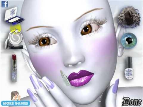 Игры макияж и маникюр и причёски