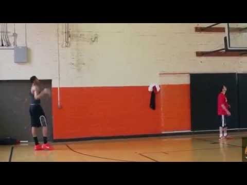 Anthony Davis 2015 workout Post Moves and Three Point Shooting