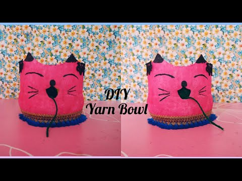 DIY Cat Yarn Bowl / Yarn Holder Bowl / Yarn n needle Holder / Using Empty Bottle @sv craft zone