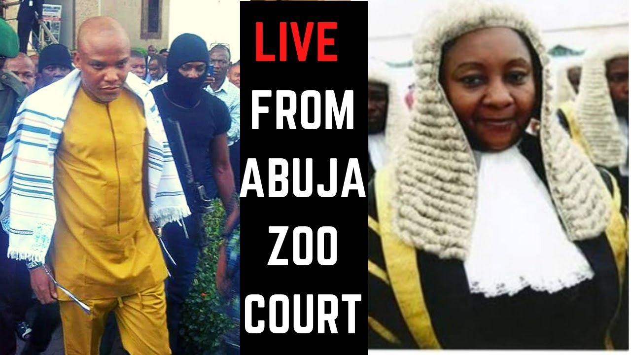 Live at Abuja ZOO Court 26 -07 -2021. Our Leader MUST be free With Biafra. No Going Back