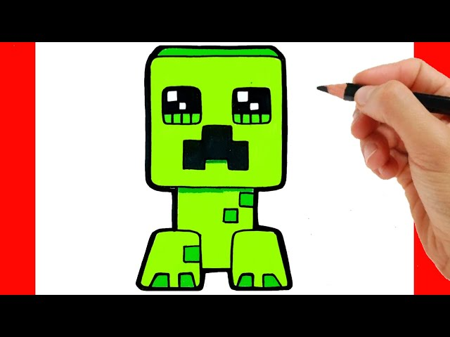 How To Draw Crepper From Minecraft Como Dibujar Minecraf