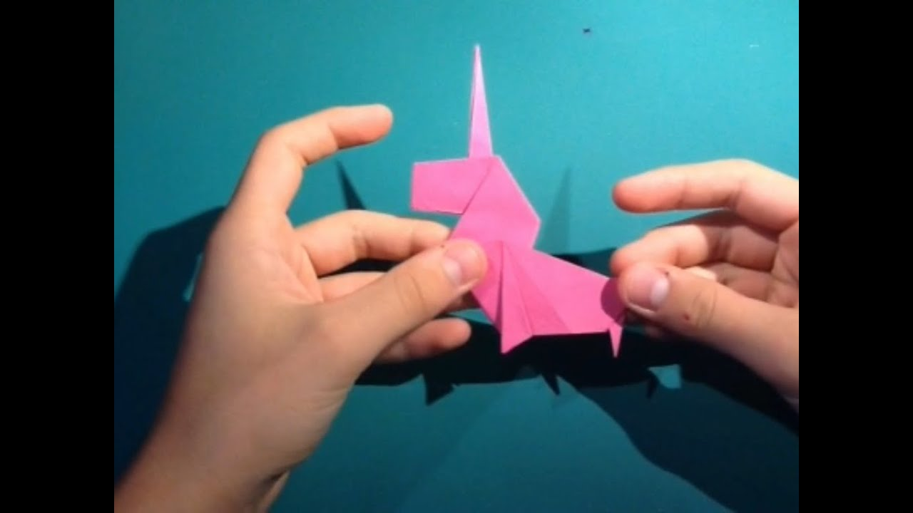 how to fold an origami unicorn designed by perry bailey