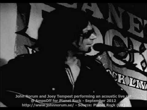 John Norum and Joey Tempest performing an acoustic live set - September 2012