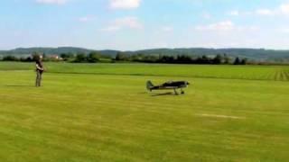 focke wulf fw190 airworld mit moki 150 radial engine shit landing