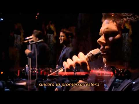 IL DIVO - La promessa with Lyrics, Live in Barcelona