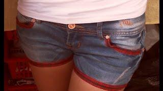 Как сделать шорты из старых  джинсов.(Как сделать шорты из старых джинсов. Подпишись на мой канал Сылка на видео:https://www.youtube.com/watch?v=7wT33bt_VYI., 2015-09-14T15:41:00.000Z)