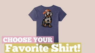 Top 12 Tees By Dachshund Shirts // Graphic T-Shirts Best Sellers