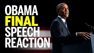 President Obama Gives Final Speech in Chicago - Farewell Address (REACTION)