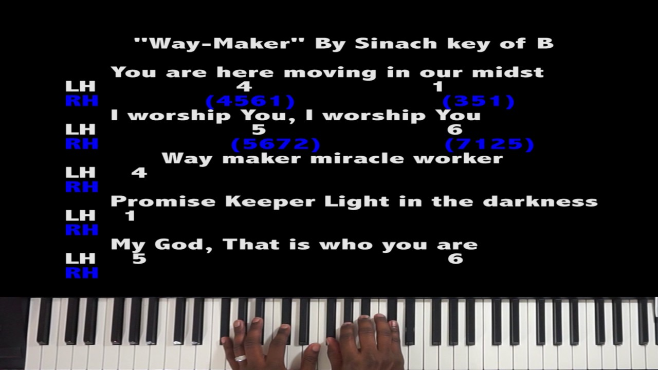 Waymaker Piano Tutorial Sinach by Cedric Braden