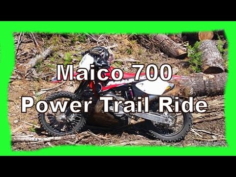 Dirtbike: How much power does a Maico 700 have trail ride