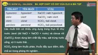 Video bài giảng hóa lớp 10 - Nhóm VIIA. Nhóm Halogen - Bài 4. Hợp chất có oxy của clo - bài tập