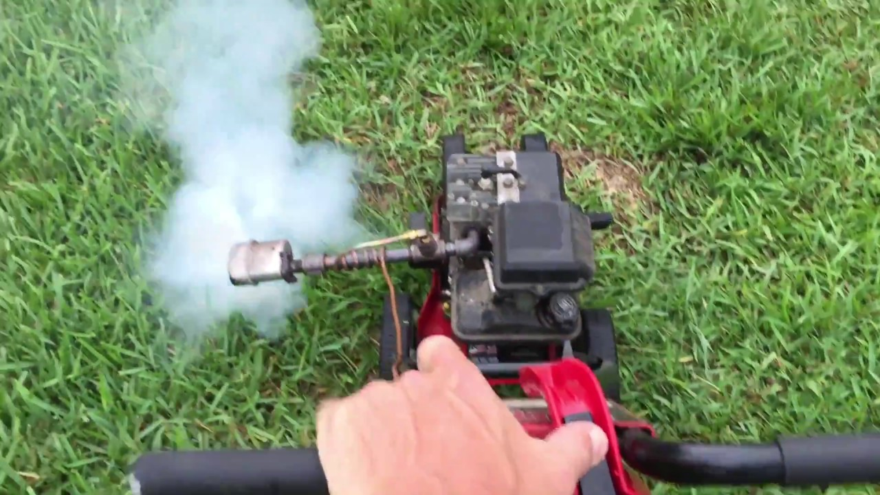 Mosquito fogger homemade in action