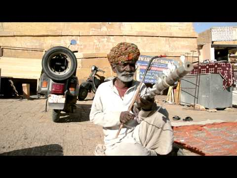 Indian Ancient Violin Street Musician