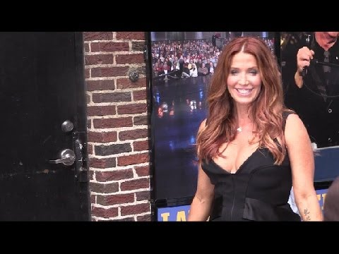 Poppy Montgomery after Letterman