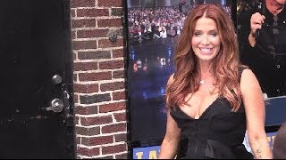 Poppy Montgomery after Letterman Show