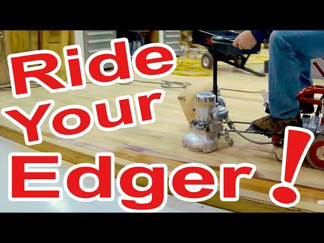 Wood Floor Rider for Edging, Gyms, More!