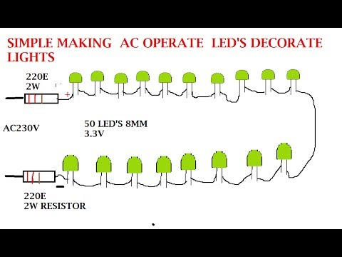 make your own serial led lights for ac 230v and 120v youtube220v Ac Operated Christmas Light Star Circuit Schematic Diagram #19