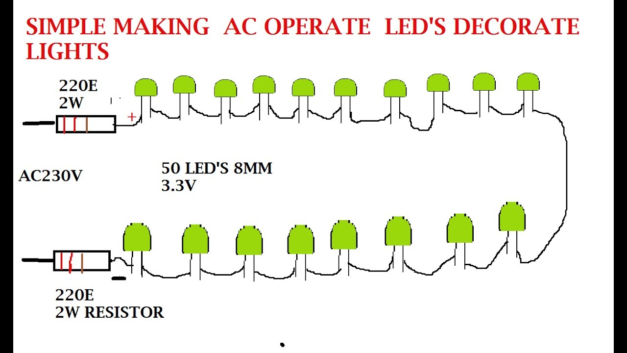 Led Lights Diagram Wiring Dimmer Switch Manual Make Your Own Serial For Ac 230v And 120v - Youtube