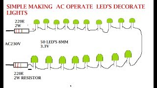 maak je eigen serial led verlichting voor ac 230 v en 120 v